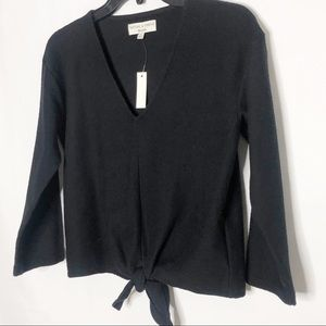 Madewell Tops - NWT MADEWELL TEXTURE & THREAD Tie Front Top Shirt